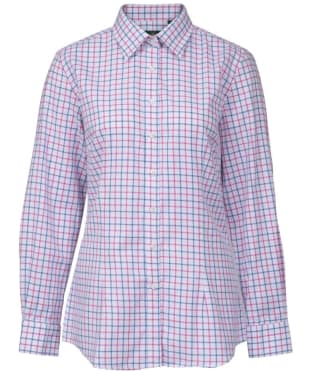 Women's Alan Paine Bromford Check Shirt - Blue / Pink