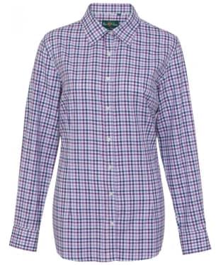 Women's Alan Paine Bromford Check Shirt - Purple