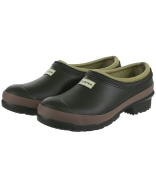 Women's Hunter Gardener Clogs - Dark Olive / Clay