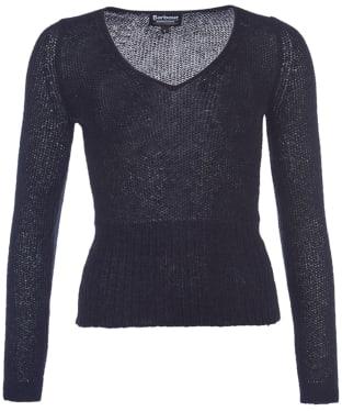 Women's Barbour InternationalPanafina V-Neck Sweater - Black