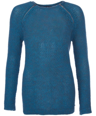 Women's Barbour International Worldcrosser Knit Sweater - Verdi Gris