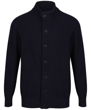 Men's Barbour Patch Zip Through Sweater - Navy