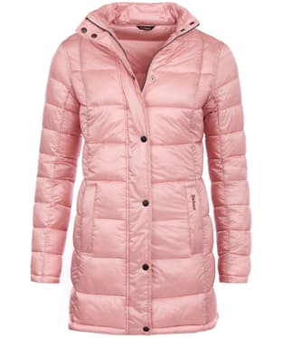 Women's Barbour Clyde Long Quilted Jacket - Rose