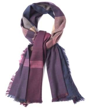 Women's Barbour Tartan Square Scarf - Damson