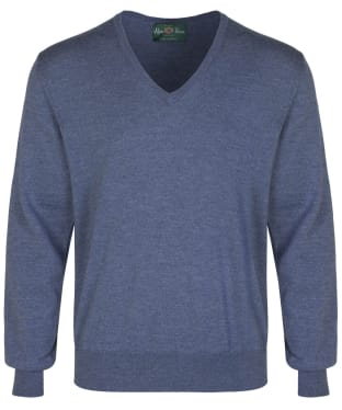 Men's Alan Paine Millbreck V-Neck Sweater - Denim
