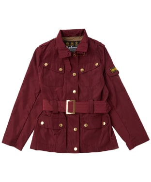 Girl's Barbour International Farleigh Casual Jacket, 10-15yrs - Cherry