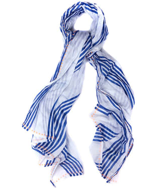 Women's Barbour Sealand Scarf - Blue / White
