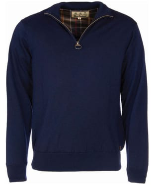Men's Barbour Gamlin Half Zip Waterproof Sweater - Navy