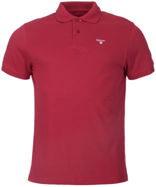 Men's Barbour Sports Polo 215G - Raspberry