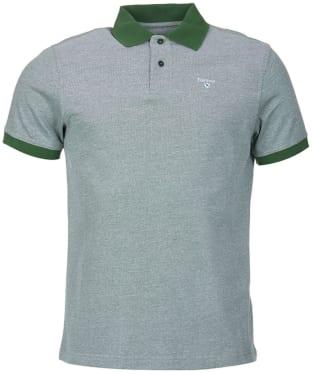 Men's Barbour Sports Polo Mix Shirt - Racing Green