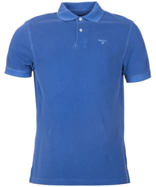 Men's Barbour Washed Sports Polo - Marine Blue