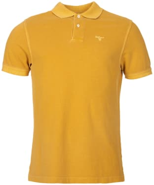 Men's Barbour Washed Sports Polo - Mustard