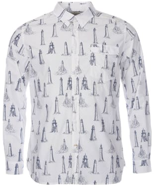 Men's Barbour Watch Tower Shirt - Ecru Print
