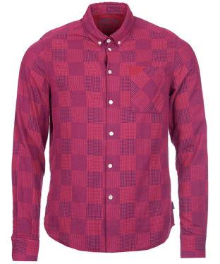 Men's Barbour Multi Laundered Shirt - Raspberry Check