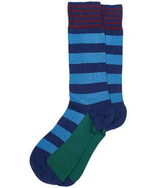 Men's Barbour Bold Stripe Socks - Inky Blue