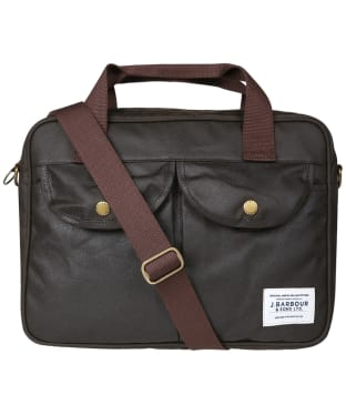 Barbour Longthorpe Wax Laptop Bag - Navy