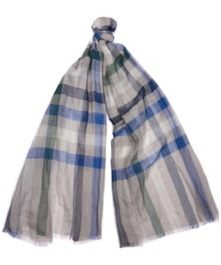 Barbour Duncan Tattersall Scarf - Grey / Blue / Green