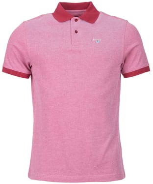 Men's Barbour Sports Polo Mix Shirt - Raspberry