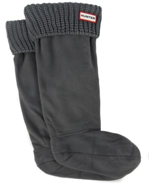 Hunter Half Cardigan Stitch Boot Socks - Dark Slate