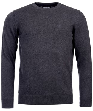 Men's Barbour Pima Cotton Crew Neck Sweater - Charcoal