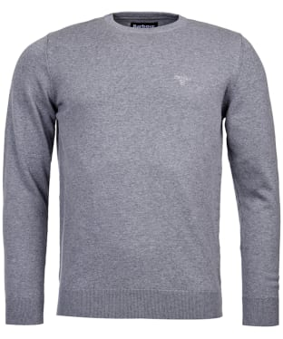 Men's Barbour Pima Cotton Crew Neck Sweater - Grey Marl