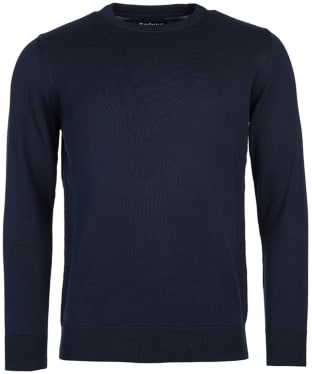 Men's Barbour Pima Cotton Crew Neck Sweater - Navy