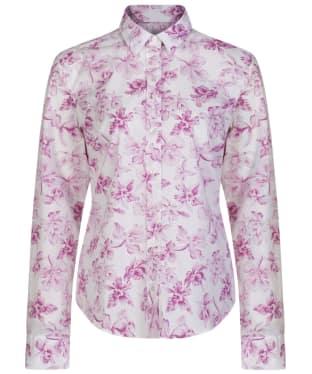 Women's GANT Big Flowered Stretch Shirt - Wild Aster