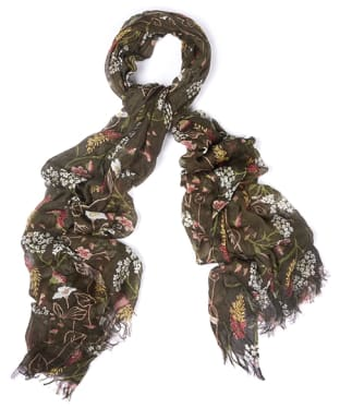 Women's Barbour Floral Bloom Wrap - Olive