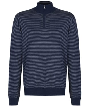 Men's Hackett Fine Stripe Half Zip Sweater - Navy