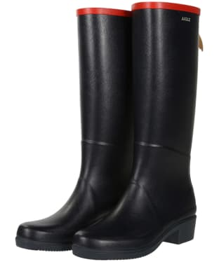 Women's Aigle Miss Juliette A Wellingtons - Marine / Red