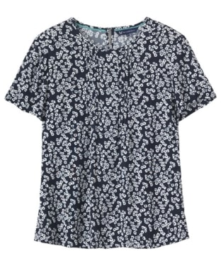 Women's Crew Clothing Bloom Printed Crepe Top - Bloom Print / Navy