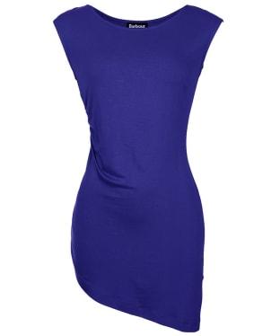 Women's Barbour International Leaf Spring Asymmetric Top - Royal Purple