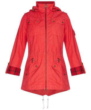 Women's Barbour International Deauville Casual Parka - Chilli Red
