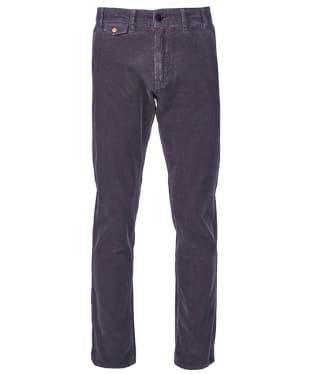 Men's Barbour Neuston Fine Cord Trousers - Grey