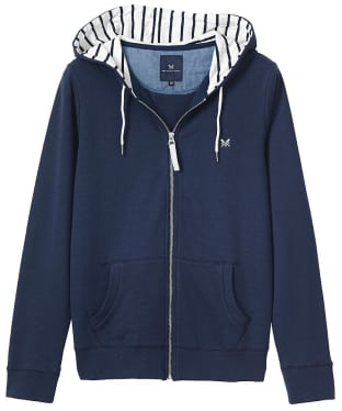 Women's Crew Clothing Zip Through Hoodie - Navy