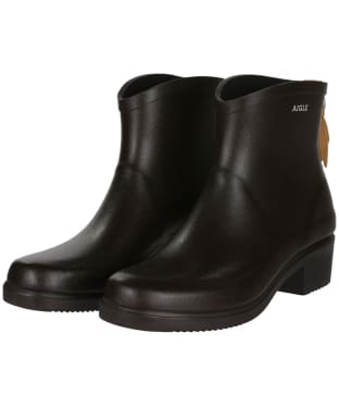 Women's Aigle Miss Juliette Bottillon Ankle Boots - Brown