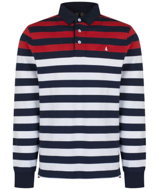Men's Musto Lawson Stripe Rugby Shirt - True Navy