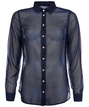 Women's Barbour Strachan Sheer Shirt - Mid Navy