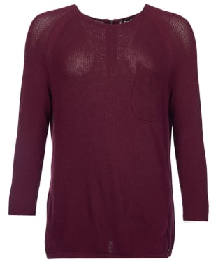 Women's Barbour International Fandor Textured Knit Sweater - Cherry Red