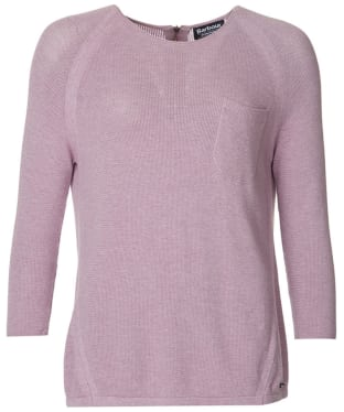 Women's Barbour International Fandor Textured Knit Sweater - Ice Rose
