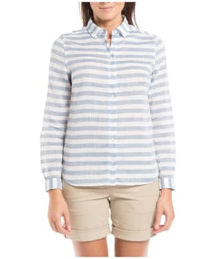 Women's Aigle Fieldsand Shirt - Ink Blue Stripe