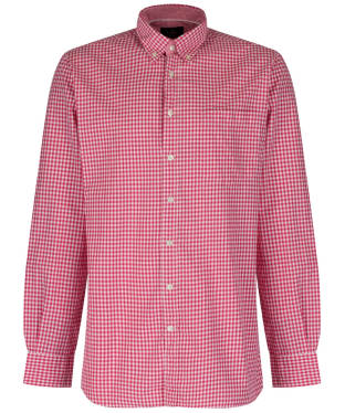 Men's Hackett Multi Gingham Shirt - Coral / Ecru