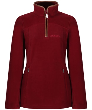 Women's Schoffel Tilton 1/4 Zip Fleece - Ruby