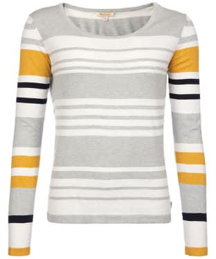 Women's Barbour Bowline Stripe Knit Sweater - Silver Ice