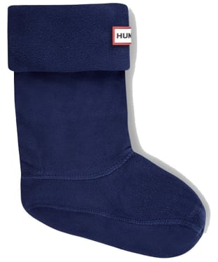 Hunter Kids New Fleece Welly Socks - Navy