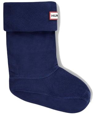 Hunter Kids New Fleece Welly Socks - Navy