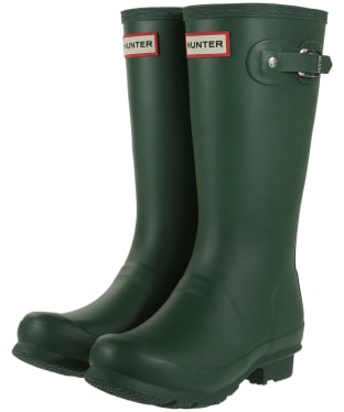 Hunter Original Kids Wellington Boots, 7-11 - Hunter Green