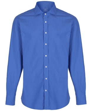 Men's Hackett Garment Dyed Slim Shirt - Bright Blue