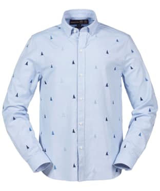 Men's Musto Invaders Long Sleeve Shirt - Pale Blue