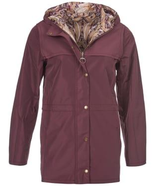 Women's Barbour Manderston Waterproof Jacket - Aubergine